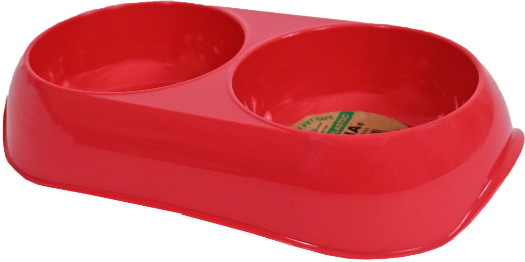 Moderna Voerbak Gusto Dubbel Recycled Coral XS