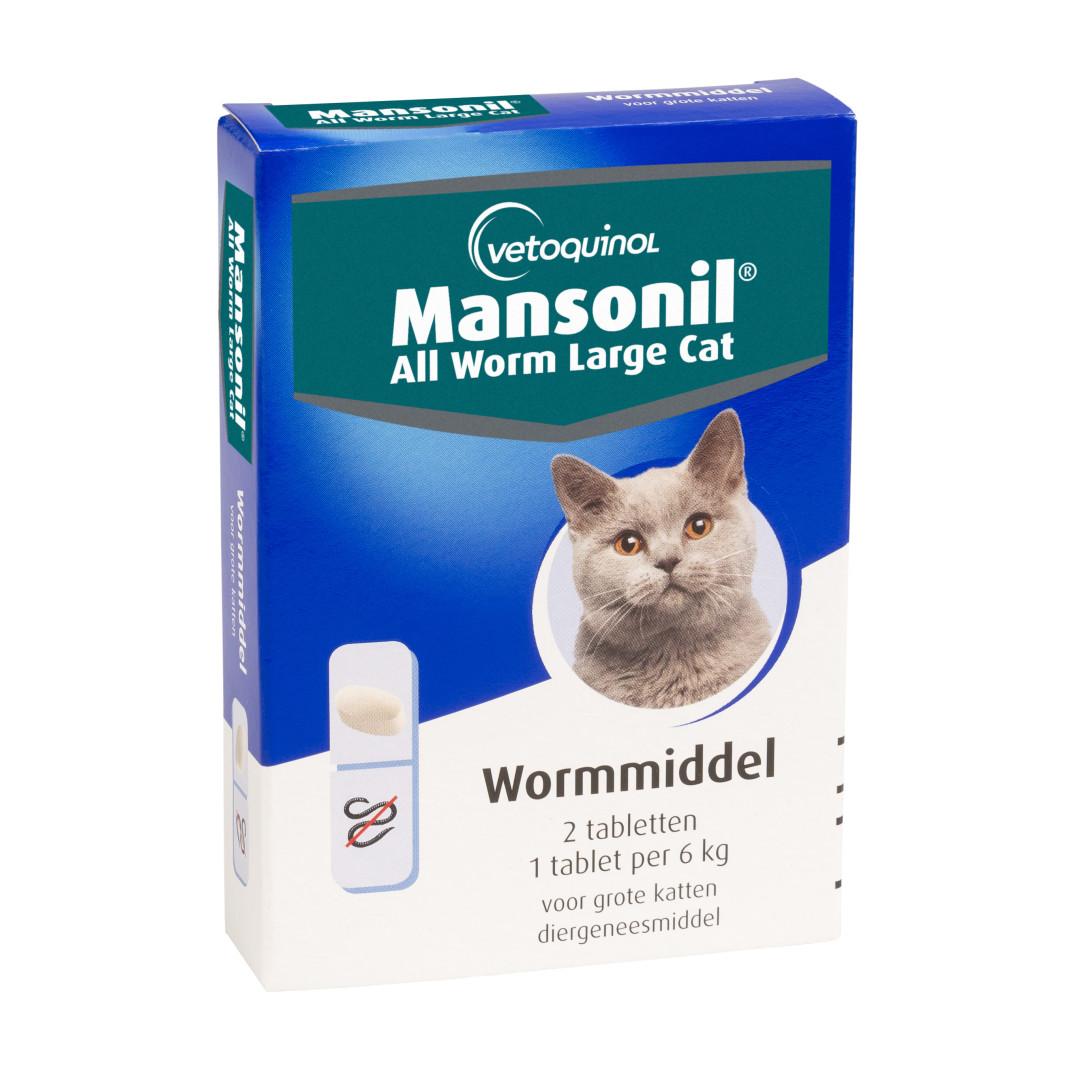 Mansonil All Worm tabletten grote kat 2 st