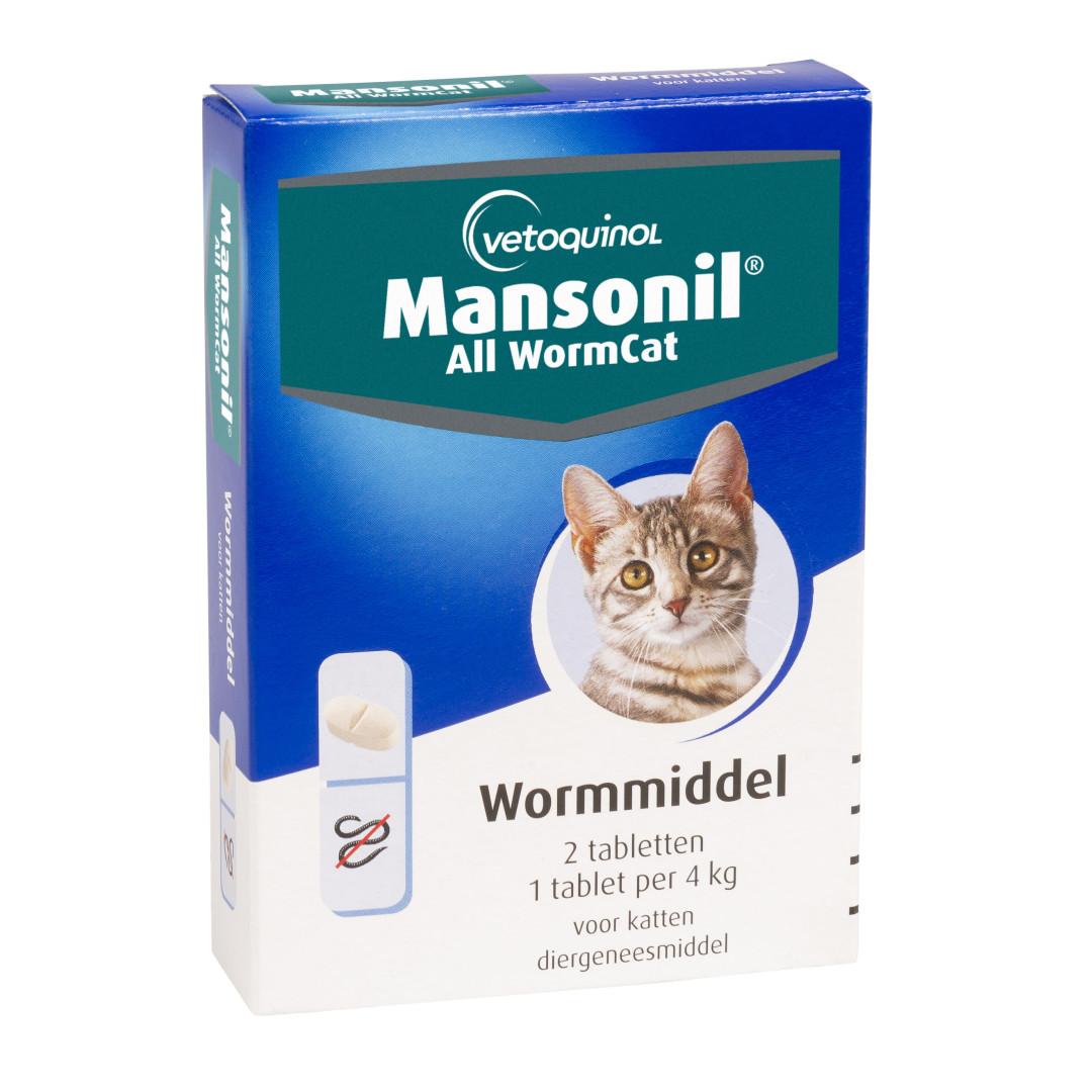 Mansonil All Worm tabletten kat 2 st