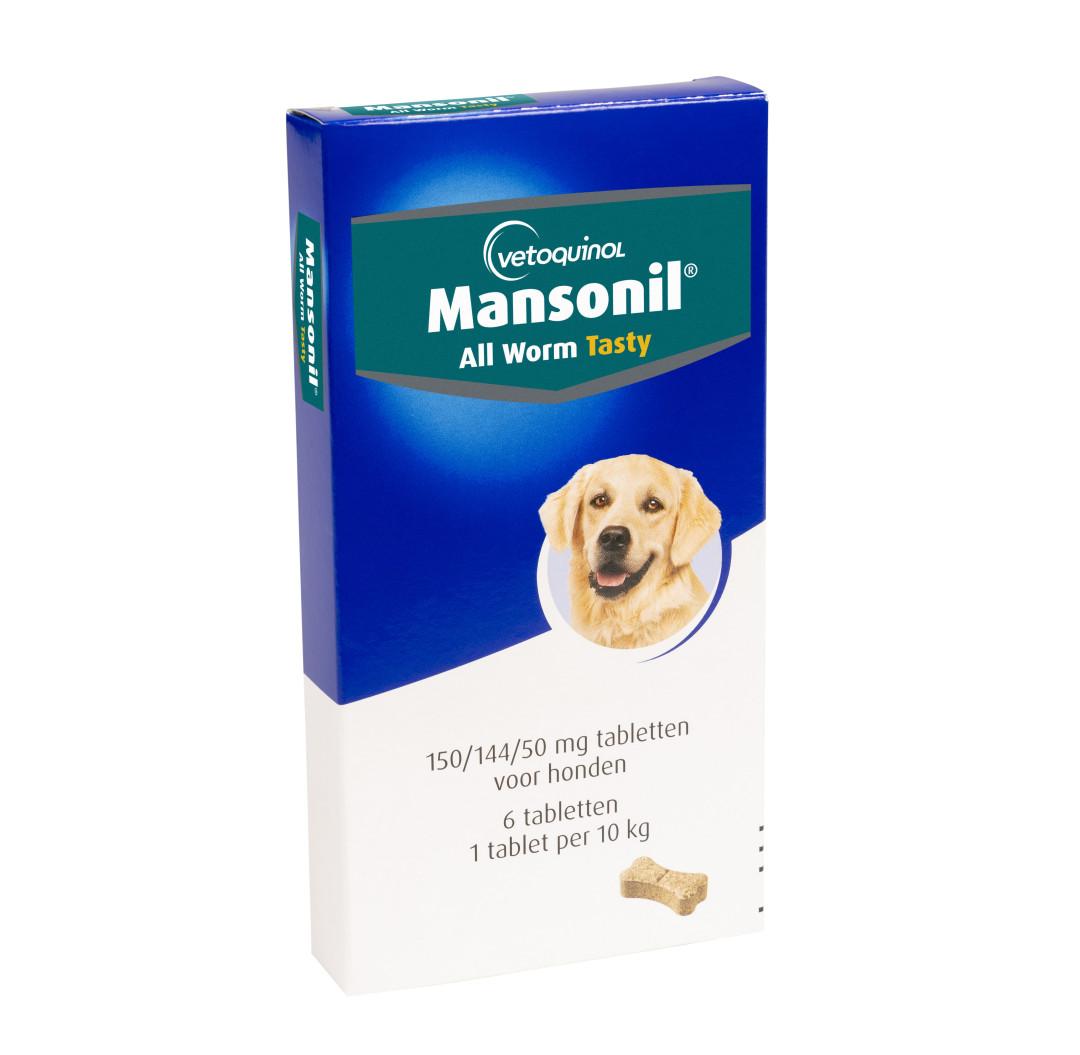Mansonil All Worm tabletten hond 6 st