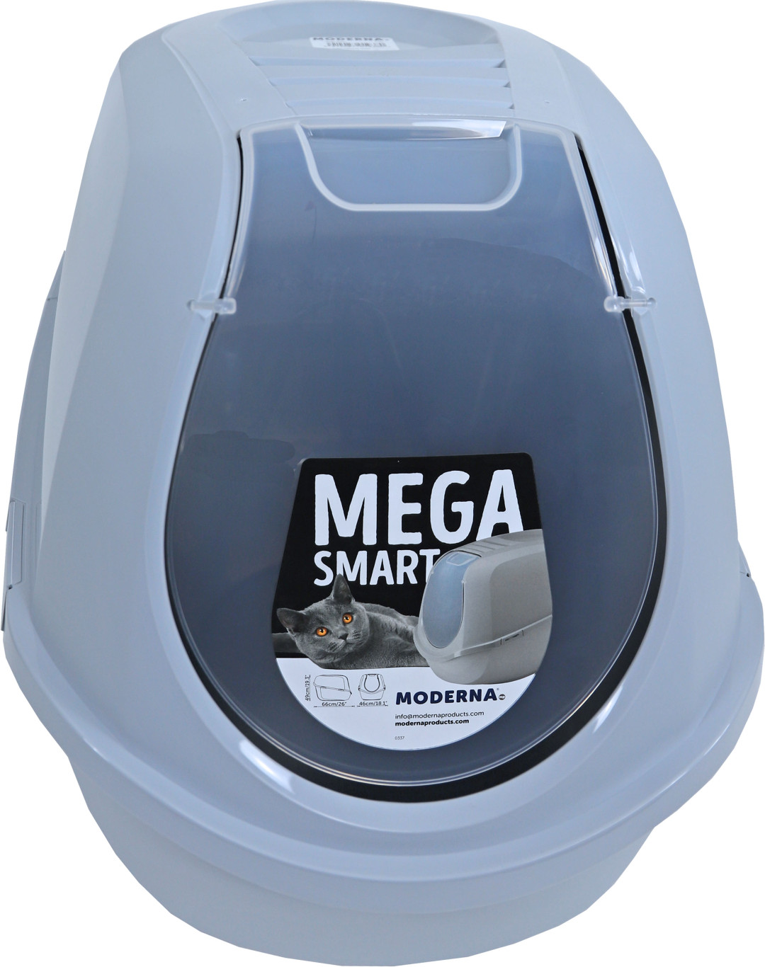 Moderna kattenbak Mega Smart Recycled Titanium